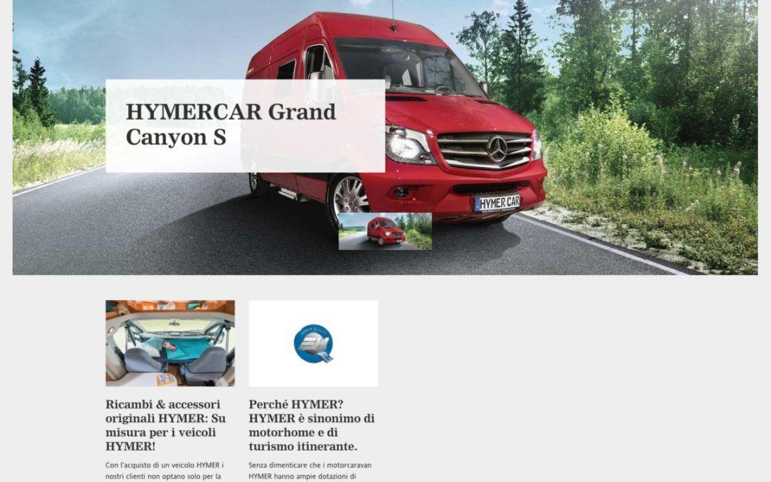 È online il sito Hymercar in italiano