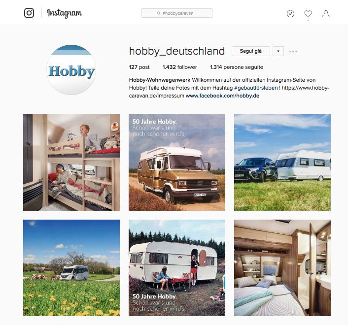 Hobby Caravan è sempre più social