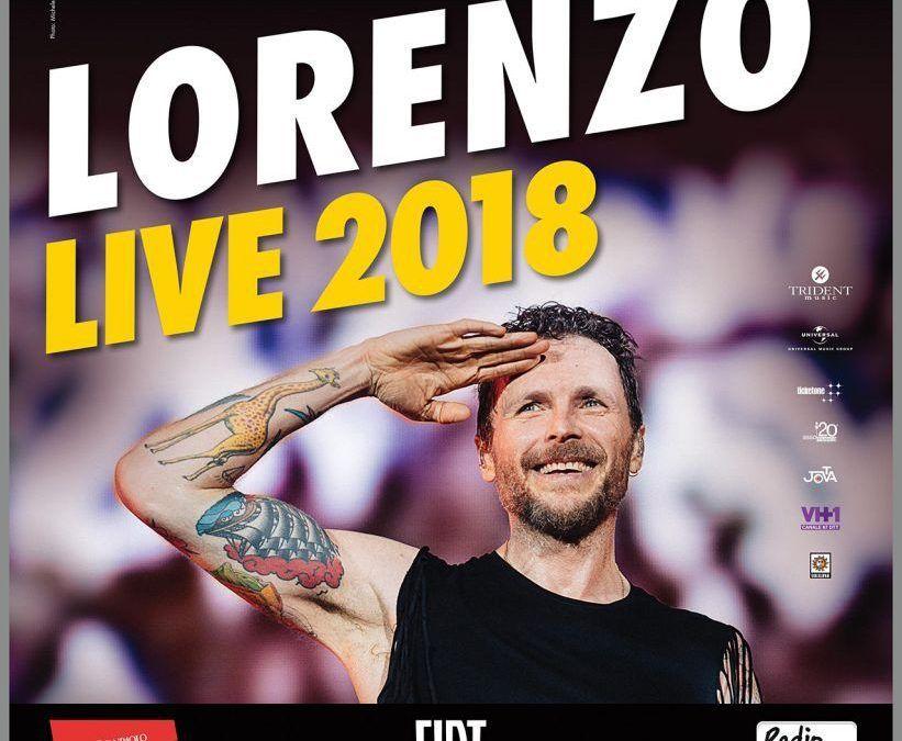 """Fiat è main sponsor del tour italiano di Jovanotti """"Lorenzo Live 2018"""""""