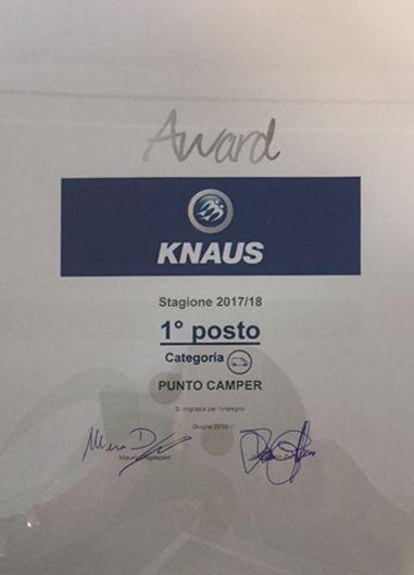 Knaus premia Punto Camper